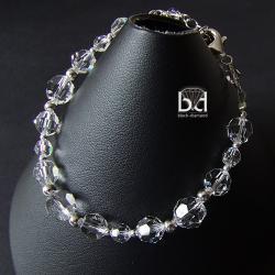 subtelna bransoletka ślubna swarovski - Bransoletki - Biżuteria