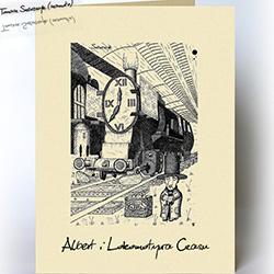 dla niego,kartka dla mężczyzny,podróż,pociąg - Kartki okolicznościowe - Akcesoria