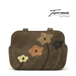 torba na ramię,do ręki,z kwiatami,z ekozamszu - Na ramię - Torebki