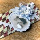 Kartki okolicznościowe kartka,życzenia,para młoda,ślub,retro