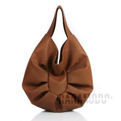 skóra ekologiczna,brązowa,torebka,pojemna - Na ramię - Torebki