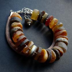 bransoleta z bursztynami - Bransoletki - Biżuteria