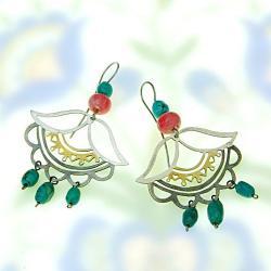 etno,etniczne,stylizowane,oryginalne - Kolczyki - Biżuteria