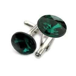 spinki do mankietów Swarovski i srebro - Dla mężczyzn - Biżuteria