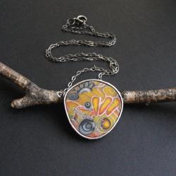 fiann,biżuteria autorska,polymer clay - Naszyjniki - Biżuteria