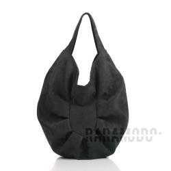 torebka,eko zamsz,czarna,pojemna - Na ramię - Torebki