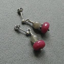 drobne,krótkie,delikatne,romantyczne,kobiece, - Kolczyki - Biżuteria