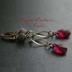 kolczyki,srebrne,różowe,Swarovski,oksydowane - Kolczyki - Biżuteria
