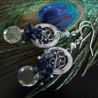 Kolczyki kolczyki,wire- wrapping,swarovski,srebro,crystal