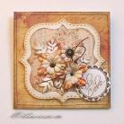 Kartki okolicznościowe jesień,kartka,życzenia,delikatna,kwiaty