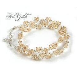Elegancki,złocisty,szykowny naszyjnik - Naszyjniki - Biżuteria