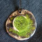 Wisiory zielen,ceramika,wisior,rzemień