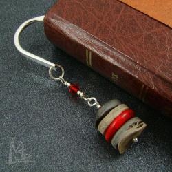 zakładka,muszla szara,klasyczna,do książki - Zakładki do książek - Akcesoria