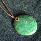 Wisiory turkusowo-zielony,okrąg,ceramika