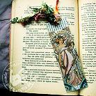Zakładki do książek zakładka do książki,Alfons Mucha,kobieta,frędzel