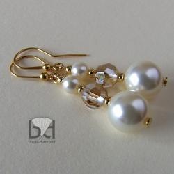 kolczyki ozłocone z kryształami Swarovski - Kolczyki - Biżuteria
