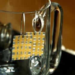srebro,złoto,oksydowane,unikat,kolczyki - Kolczyki - Biżuteria