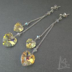 serca,mieniące się,dla zakochanych - Kolczyki - Biżuteria