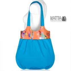 motyle,niebieska torba,lazur,na lato,plaża - Na ramię - Torebki