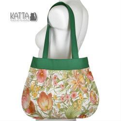 toreka w kwiaty,z kwiatami,tulipany,na randkę - Na ramię - Torebki