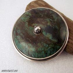 ciężka,ciekawa,aztecka broszka - Broszki - Biżuteria