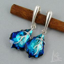 Swarovski,Baroque,Bermuda Blue - Kolczyki - Biżuteria
