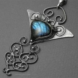 oksydowany,stylowy,ekskluzywny,elegancki wisior - Naszyjniki - Biżuteria