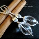 Kolczyki kryształowe kolczyki,satynowe srebro,ślub