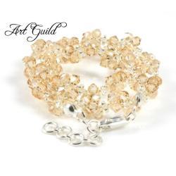 Elegancki,romantyczny naszyjnik,złocisty,szykowny, - Naszyjniki - Biżuteria