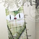 Zakładki do książek zakładkia do książki,kot,zielona
