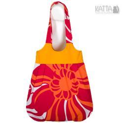 pomarańczowa torba,na lato,na plażę,soczysta - Na ramię - Torebki