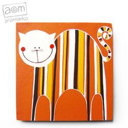 magnes,na lodówkę,kot,kociak,magnesik - Magnesy na lodówkę - Wyposażenie wnętrz