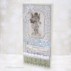 anioł,retro,święta - Kartki okolicznościowe - Akcesoria