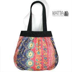 torba z aksamitu,rustykalna,kolorowa torba - Na ramię - Torebki