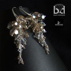 Gronka z kryształami Swarovski - Kolczyki - Biżuteria