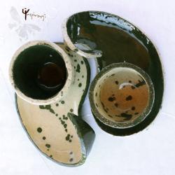 filiżanki,jin jang,ceramika,unikat, - Ceramika i szkło - Wyposażenie wnętrz
