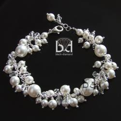 elegancka bransoleta na ślub i nie tylko - Bransoletki - Biżuteria