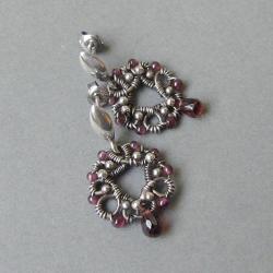 drobne,małe,romantyczne,owijane,vintage,koronka - Kolczyki - Biżuteria