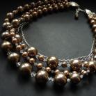 Naszyjniki efektowny naszyjnik z perłami