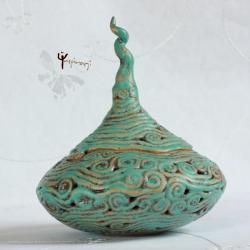 szkatułka,na skarby,unikat,misterna,ażur - Ceramika i szkło - Wyposażenie wnętrz