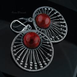 kolczyki,wire wrapping,klipsy,kolczyki,sztyfty - Kolczyki - Biżuteria