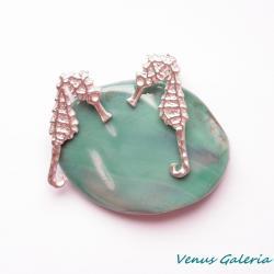 srebrne kolczyki,koniki morskie - Kolczyki - Biżuteria