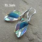Kolczyki eleganckie kolczyki,Swarovski Avangarde Crystal AB