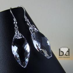 duże kryształy swarovski,markizy - Kolczyki - Biżuteria