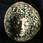 Ceramika i szkło maska,twarz,kobieta