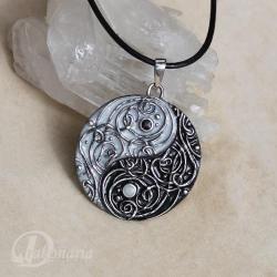 orient,yin yang,kontrast,przeciwieństwa,linie - Wisiory - Biżuteria