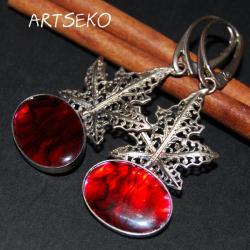 Kolczyki z muszlą Paua - Kolczyki - Biżuteria