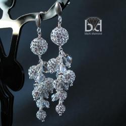 bogate kolczyki z kryształami Swarovski - Kolczyki - Biżuteria