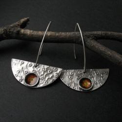 anna fidecka,art clay,fiann,łódeczki - Kolczyki - Biżuteria