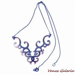 srebro,oksyda,naszyjnik, - Naszyjniki - Biżuteria